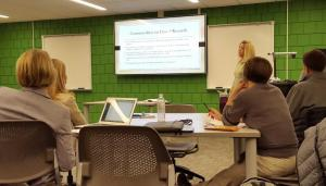 Stephanie Schmitz presents at the Education Research Ethics Symposium